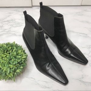 Cole Haan City black leather stretch ankle boots